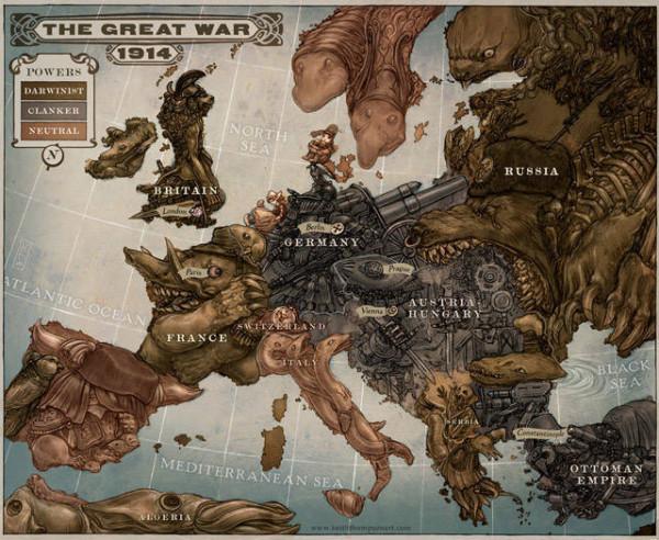 老外看世界!40張創意世界地圖1