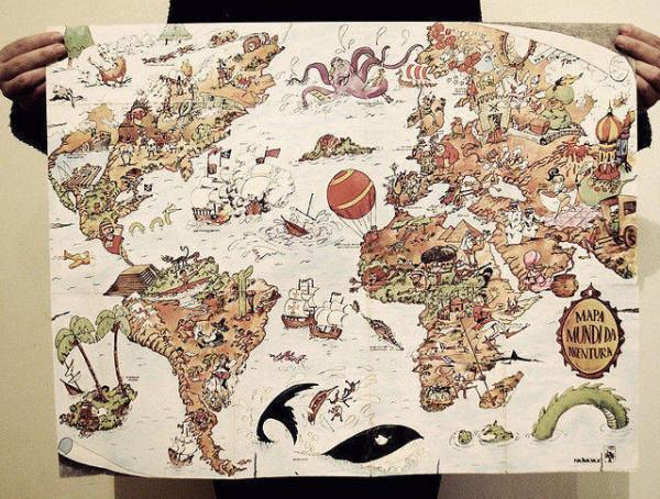 老外看世界!40張創意世界地圖13
