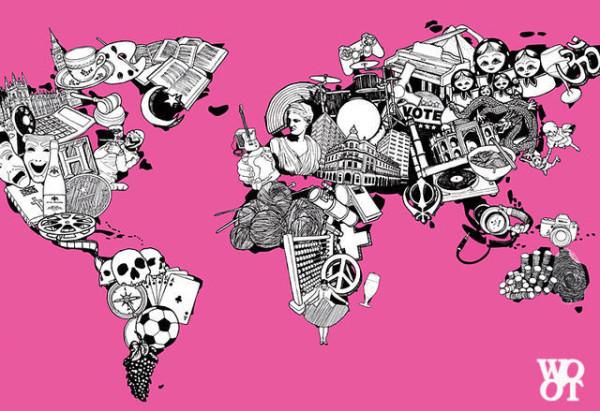 老外看世界!40張創意世界地圖18