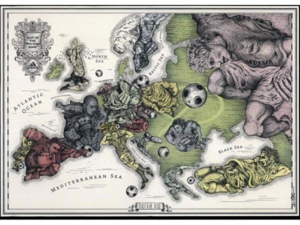 老外看世界!40張創意世界地圖20
