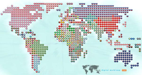 老外看世界!40張創意世界地圖29