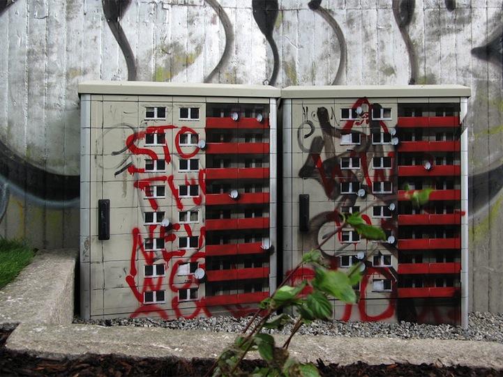 風景畫Out!化身小小公寓的變電箱10