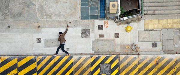 壓扁成2D遊戲的香港