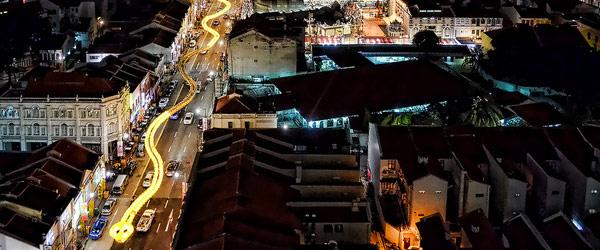 新加坡的超長蛇燈籠