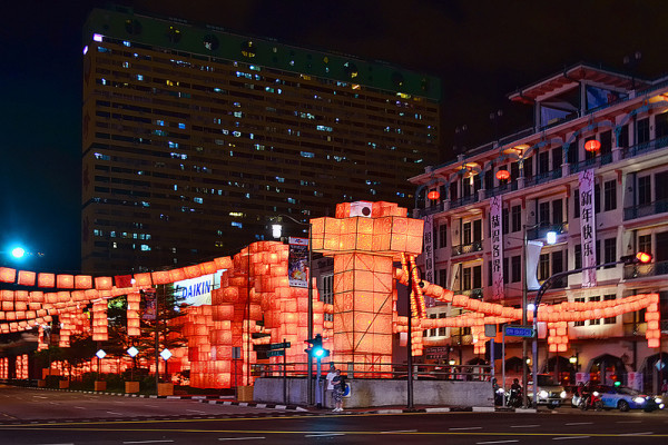 新加坡的超長蛇燈籠4
