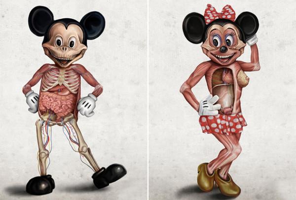 形象破壞!被解剖的迪士尼角色1