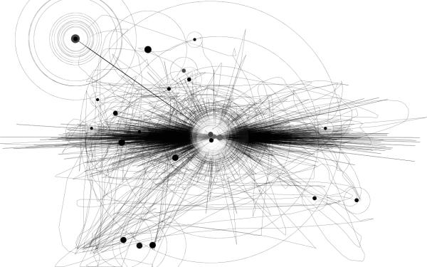 一個小時的滑鼠移動軌跡圖