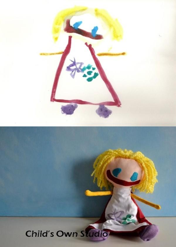 美夢成真!把小朋友的塗鴉變成真實玩偶2