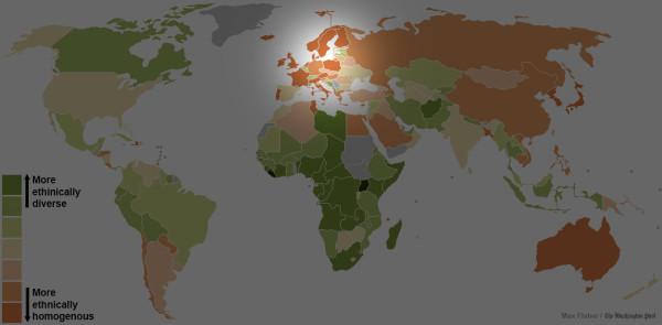 世界各國種族多元程度地圖4