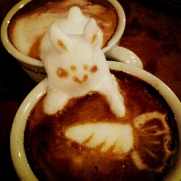 可愛到炸開!拿鐵咖啡奶泡做的動物2