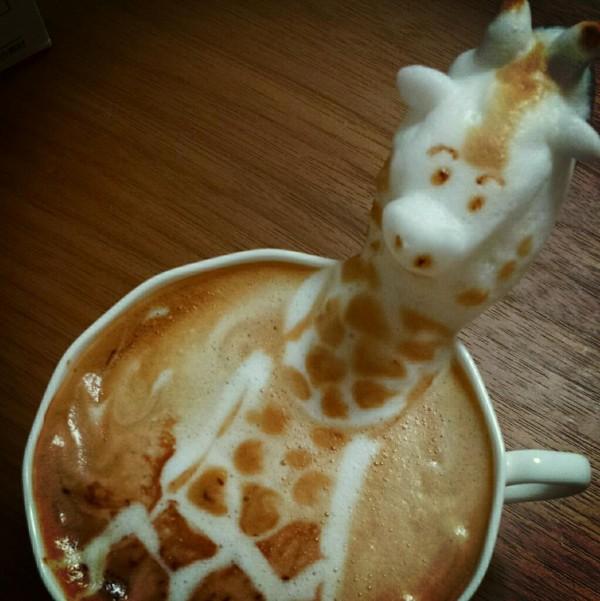 可愛到炸開!拿鐵咖啡奶泡做的動物5