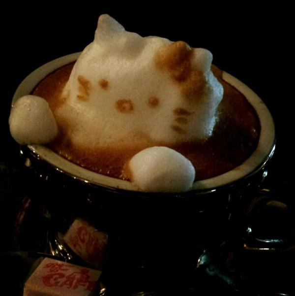 可愛到炸開!拿鐵咖啡奶泡做的動物7