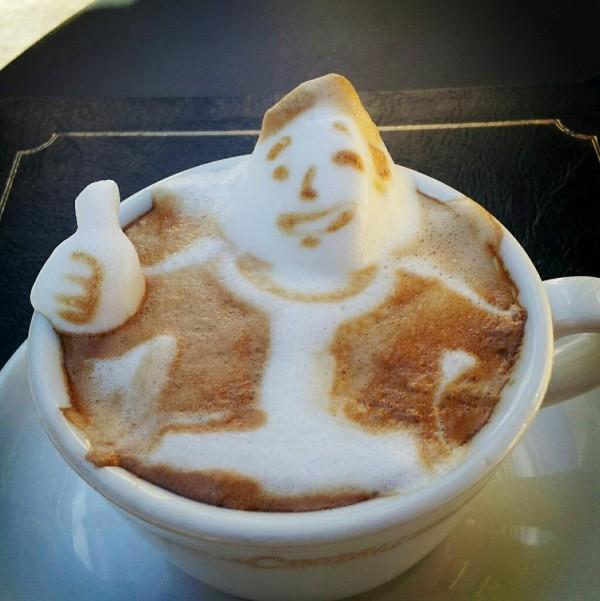 可愛到炸開!拿鐵咖啡奶泡做的動物8