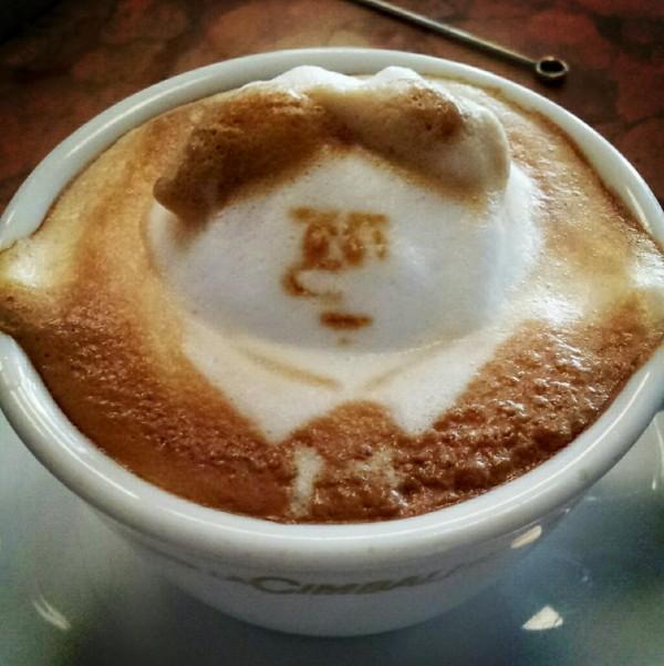 可愛到炸開!拿鐵咖啡奶泡做的動物9