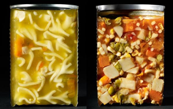 各種食物從中切半的模樣2