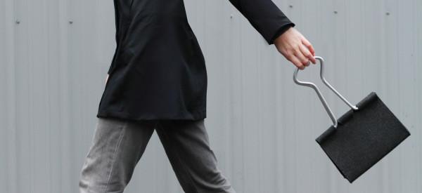 好玩又時尚的辦公室夾子手提包1