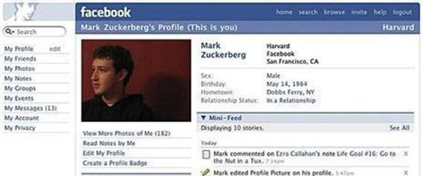 臉書個人頁面成長史