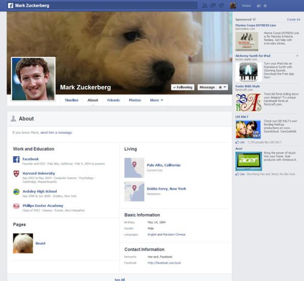 臉書個人頁面成長史9