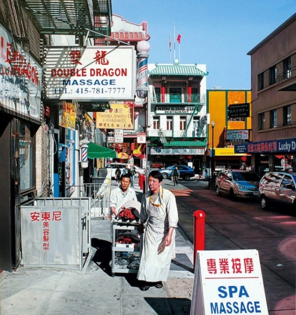 超寫實的中國城手繪照片2