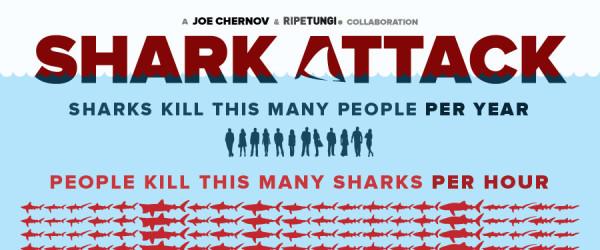 震撼彈!每小時有幾隻鯊魚被人類殺死?1