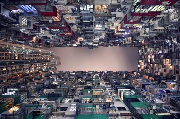 香港摩天大樓間的一線天1