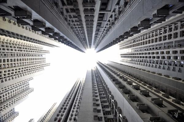 香港摩天大樓間的一線天4