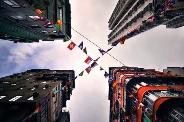 香港摩天大樓間的一線天5