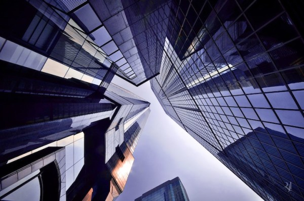 香港摩天大樓間的一線天6