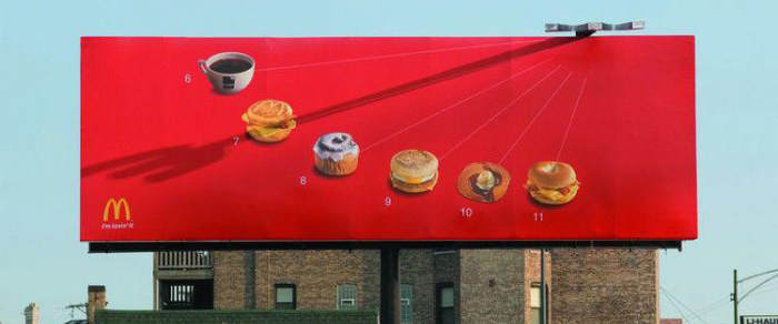 麥當勞利用影子把平面廣告變成動畫