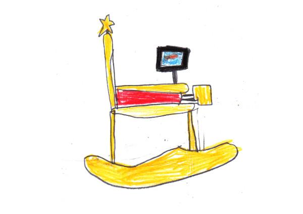 藝術家把小孩畫的椅子蓋出來3