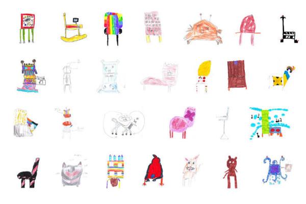 藝術家把小孩畫的椅子蓋出來6