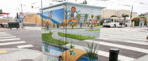 融入市景裡的創意變電箱0
