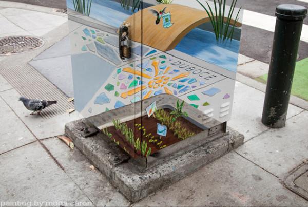 融入市景裡的創意變電箱2