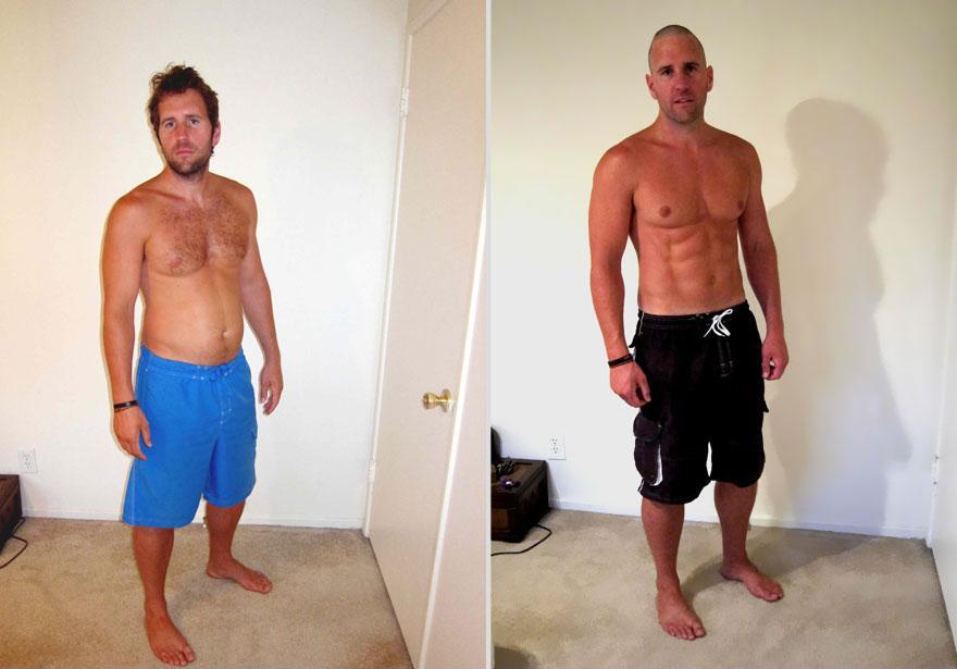 一天達成!健身教練瞬間從胖子變猛男1
