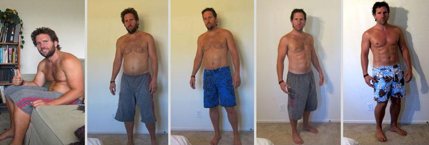 一天達成!健身教練瞬間從胖子變猛男2