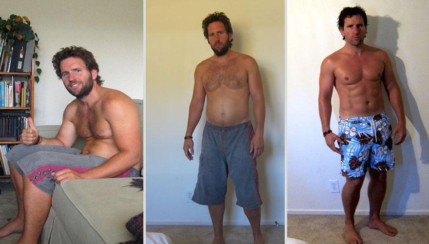 一天達成!健身教練瞬間從胖子變猛男3