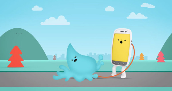 可愛防水手機廣告:水是我的好朋友3