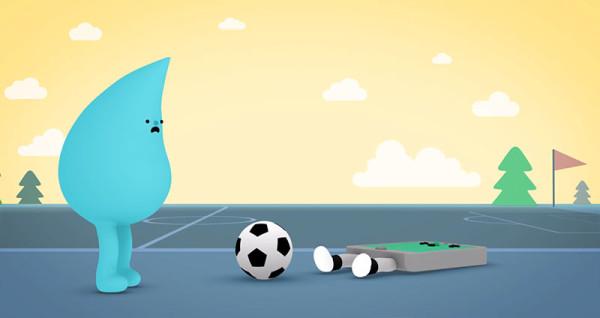 可愛防水手機廣告:水是我的好朋友5