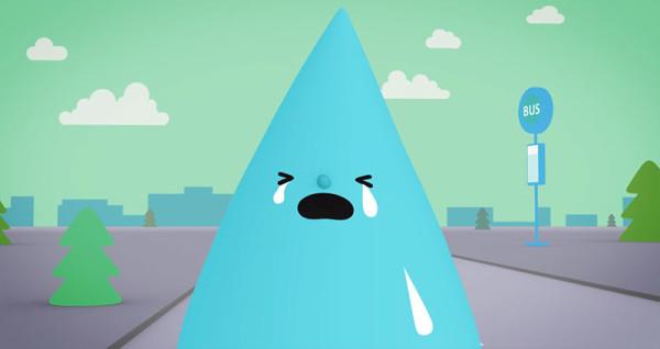 可愛防水手機廣告:水是我的好朋友9