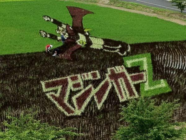超神稻田畫!直接把動漫種到稻田裡6