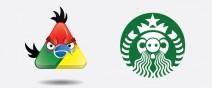 如果星巴克、Chrome通通來自憤怒鳥..