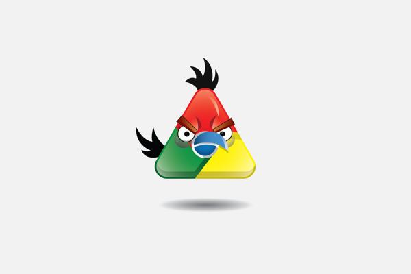 如果星巴克、Chrome通通來自憤怒鳥..1