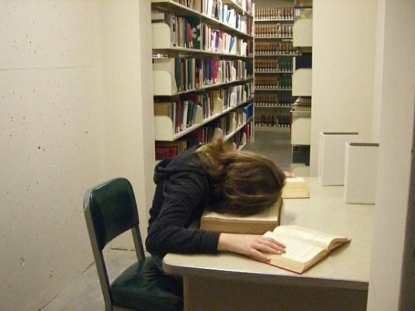 活捉在圖書館裡睡著的人!4