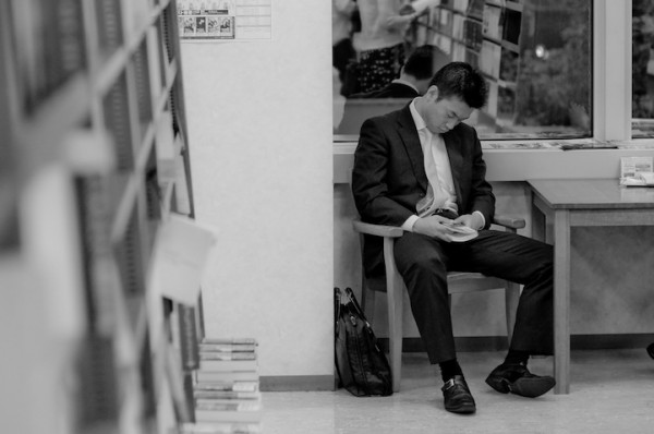 活捉在圖書館裡睡著的人!5