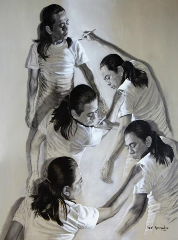 藝術家自己畫自己畫自己(無誤)1