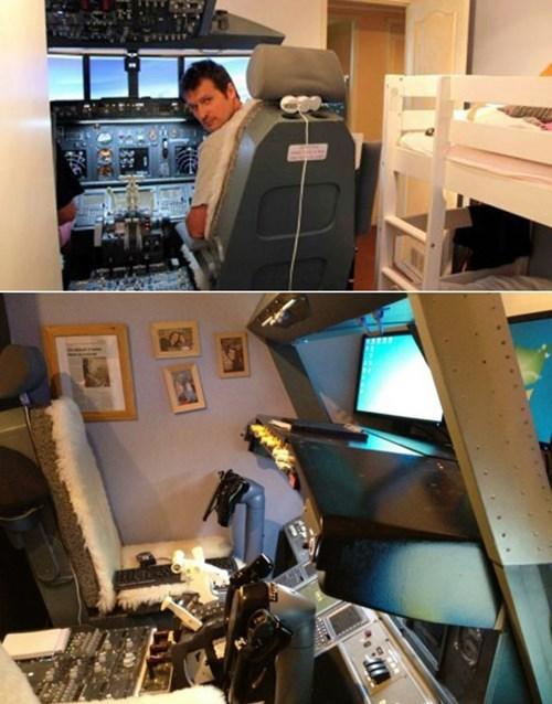 讚!爸爸在兒子房間蓋了波音747駕駛艙3