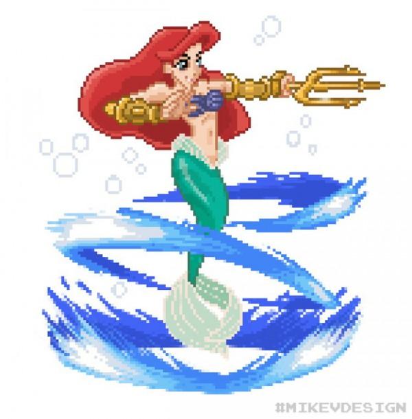 迪士尼公主變成快打旋風角色3