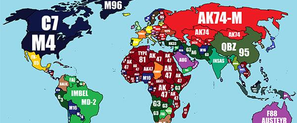世界各國的軍隊所配發的步槍