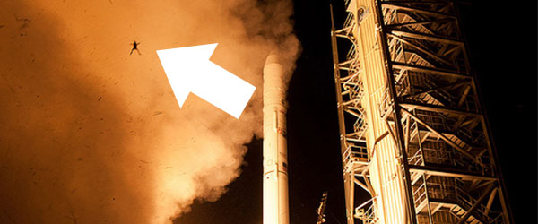 呃...NASA火箭升空,一隻青蛙彈射出來