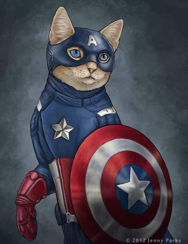 如果復仇者聯盟的角色都是貓星人1